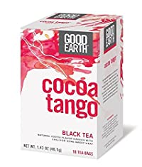 Good Earth Cocoa Tango Black Tea, 18 Count 4 Pack