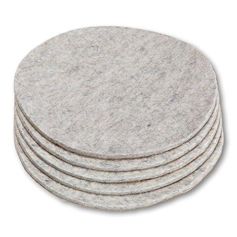 Round Slice en feutre (Feutre de laine), autocollant, 16.2cm de