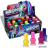 24 x Neon Nagellack 24 Verschiedene Farben Leuchtet im Dunkeln