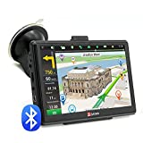 Junsun GPS 7' (17 cm)pour voiture camion 8Go disque dur 256Mo 800 MHz mise à jour gratuite de la carte de l'Europe illimitée con Bluetooth