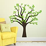 #10: Wallstick ' Big Green Tree ' Wall sticker ( Vinyl 125 cm x 120 cm )
