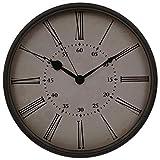 HITO™ 30cm Silent Nicht-tickende Metallrahmen Wanduhr w / Bunte Numrals und Frontglas-Abdeckung (Retro-rom)