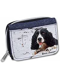 Cocker Spaniel in Snow 'Yours Forever' Girls/Ladies Denim Purse Wallet Christmas