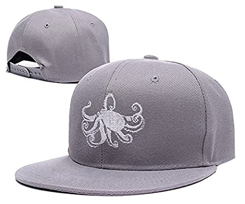 sianda Octopus Logo broderie casquette Snapback Hat Pac Taille unique Grey Hat