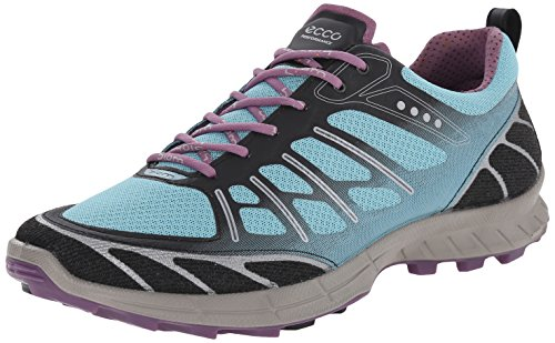 Ecco Ecco Biom Trail Fl Ladies, Chaussures de fitness outdoor femme Bleu - Blau (BLACK/AQUATIC/GRAPE)