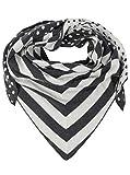 Zwillingsherz Dreieckstuch mit Kaschmir - Hochwertiger Schal mit Punkte-Streifen Muster für Damen Jungen und Mädchen - XXL Hals-Tuch und Damenschal - Strick-Waren für Winter 150cm x 120cm - ant