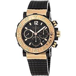 Paul Picot P3930.SRG.5010.3301 - Reloj para hombres, correa de goma color negro