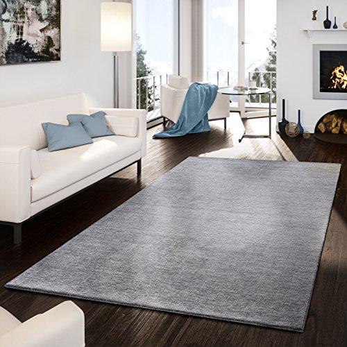 Alfombra Moderna Hecha inoxidable Gabbeh schlicht Fácil en gris, lana, gris, 200 x 300 cm