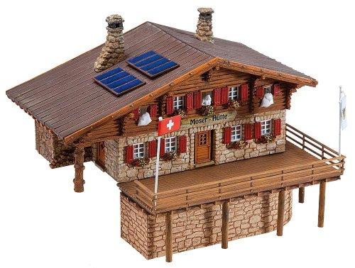 130329 - Faller H0 - Hochgebirgshütte Moser-Hütte - Spielzeug-bauernhof-gebäude