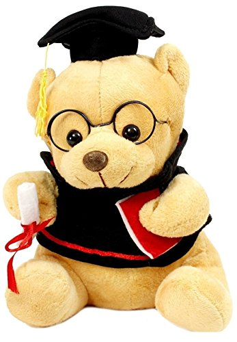 Richy Toys Graduate Musical Stuffed Teddy Bear for Kids Birthday Gift