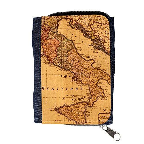 Portemonnaie Geldbörse Brieftasche // V00002382 Antike Karte Italien // Purse Wallet (Antike Karten Italien)
