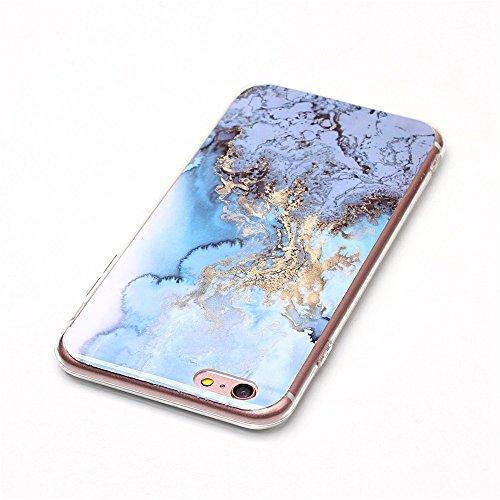 iPhone 6 Plus Hülle ,LANDEE Marmor Serie Flexible TPU Silikon Schutz Handy Hülle Handytasche HandyHülle Etui Schale Case Cover Tasche Schutzhülle für Apple iPhone 6 Plus 5.5 Zoll(6SP-DLS-004) 6SP-DLS-008