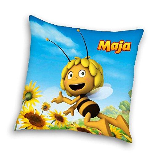 Biene Maja - Kissen Kinder Kuschelkissen Dekokissen 40x40cm