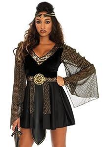 Leg Avenue- Mujer, Color Negro, Large (EUR 42-44) (86682 00103-001-L)