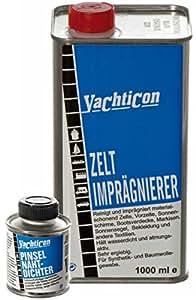 Yachticon Imprägnier-Set: Zelt & Markisen Imprägnierung & Pinsel Nahtdichter