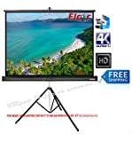 Elcor Tripod Type Projector Screen 7 Ft. (Width) X 5 Ft. (Height) In Imported High Gain Fabric, Comes With Tripod Stand, Supports 3 D And Full Hdtv Format