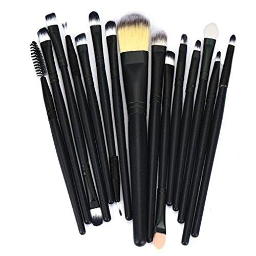 Longra 15pcs Make-up Pinsel Tools Körperpflege Set Wolle Augenbraue Foundation Make-up Pinsel Set...