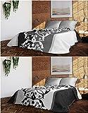 Eurofirany CHON/SIMON/03/220 Tagesdecke, Polyester, schwarz, 220 x 240 x 1 cm