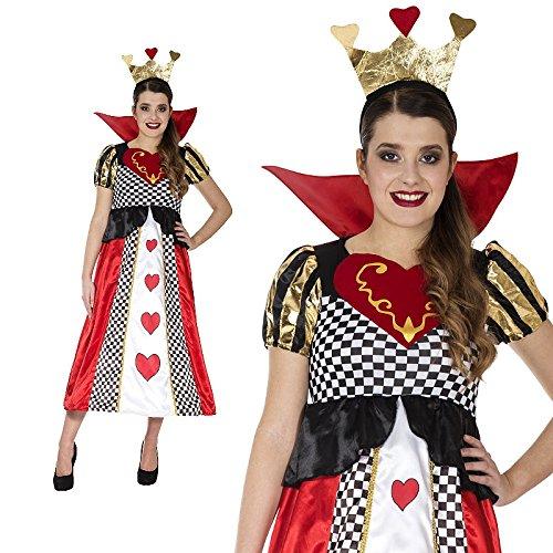 Figur Kostüm Königin Herzen Der (Herzkönigin Märchen Spielkarte Herz Kostüm Damen)