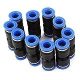 DN plástico empuje Heterosexual En neumáticas Conectores Aire Quick Accesorios 10mm (paquete de 10)