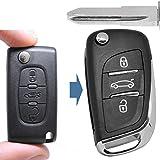 Klapp Clé plip télécommande Nouveau design 3boutons ne73Vierge de montage pour Citroën/Peugeot/Fiat