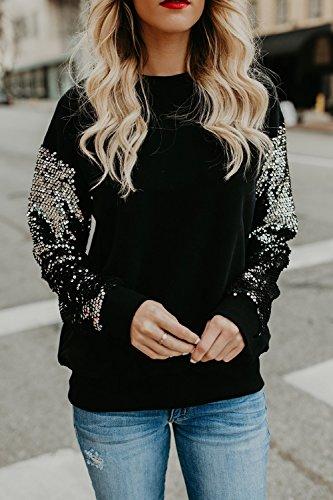 Les Femmes En Robe Pull À Manches Longues Au Club Sweat - Shirt Vêtements Black