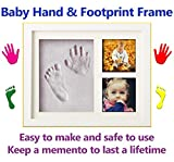 Baby Hand and Footprint Frame Set. Easy Clay Moulding Kit, Perfect Gift for Newborns, Babies or Toddlers. Makes a Lovely Father's Day Gift. Suitable for Boys and Girls. New and Updated for 2018
