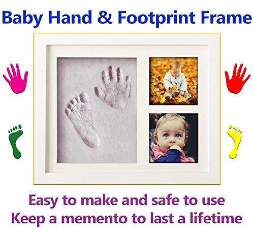 Baby Hand und Fußabdruck Rahmen Set von La Mangouste–Easy Clay Zierleiste Kit–perfekte...