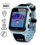 DUWIN Smartwatch GPS Tracker Kids GPS Safe Smart Watch SOS Location Finder Locator Tracker per Child Anti Lost Monitor Baby Son Wristwatch,Blue