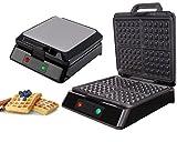 3in1 XXL Waffeleisen | Sandwichmaker | Elektrogrill | 180° Klappbar | Sandwichtoaster | Kontaktgrill | Paninigrill | Waffeltoaster | 1300 Watt | Thermostat | 3 Auswechselbare Platten | (Edelstahl)