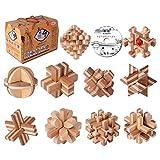 GCCLCF Bambusloch 10 Stück Set CD mit klassischem Puzzle-Demontage Spielzeug Erwachsene Intelligenz