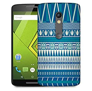 Snoogg Aztec Pattern Triangular Designer Protective Phone Back Case Cover For Motorola Moto X Play