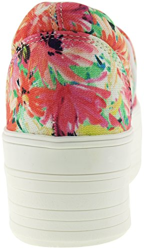 Maxstar C50 Spandex, plateforme supérieure en Toile-Ons Baskets chaussures Rouge - Flower-Red
