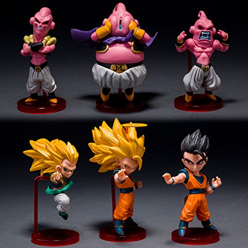 Dragon Ball - Set 6 Figuren 8-10 cm Majin Buu Gohan Super Saiyajin Goku Gotenks / 6 Figuren Set 4