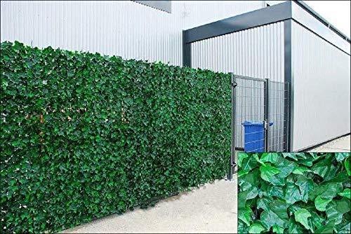 Künstliche Efeuhecke, Rolle, Sichtschutz für Gartenzaun, 1m x 3m
