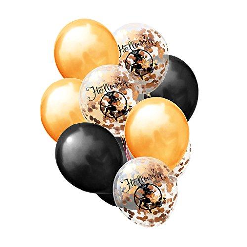 lloween Thema Gold Konfetti Helium Ballons Set - Hexe (Billige Halloween Dekoration)