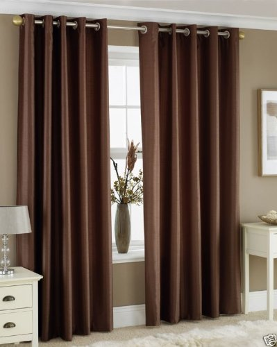 Homefab India's Set of 2 Royal Silky Coffee Long Door Curtains(HF043) 8X4ft.
