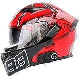 Halber Helm R1-708 ABS Vier Jahreszeiten M/äNner Und Frauen Jet Helm Anti-Fog-Doppellinse Komfortables Futter Motorradhelm