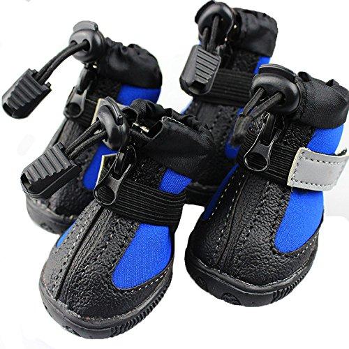 Ecloud Shop® Botas de perro Suela de goma antideslizante, zapatos para perros...