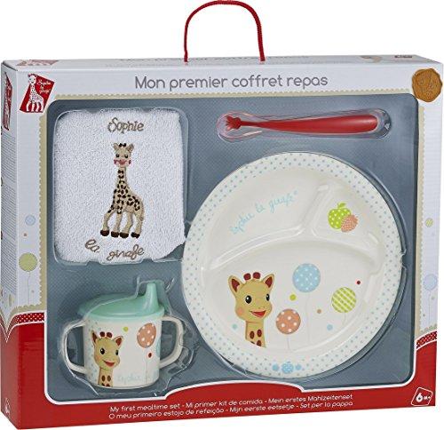 """Vulli 470008.0 Meine erste Mahlzeit Kindergeschirr-Set, Motiv:""""Sophie die Giraffe mit Ballons"""", mehrfarbig"""