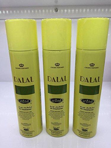 Lot de 3 Air fresher 300ml Al Rehab Dalal + 1 OFFERT