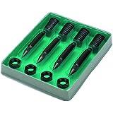 Monacor - Soportes para altavoces (4 unidades), color negro