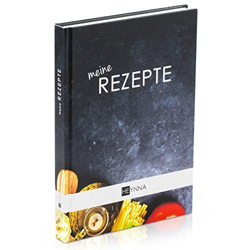 HEYNNA ® Kochbuch zum Selbst Schreiben - Hardcover Rezeptbuch/Deine Lieblingsrezepte auf A5 mit Register 10