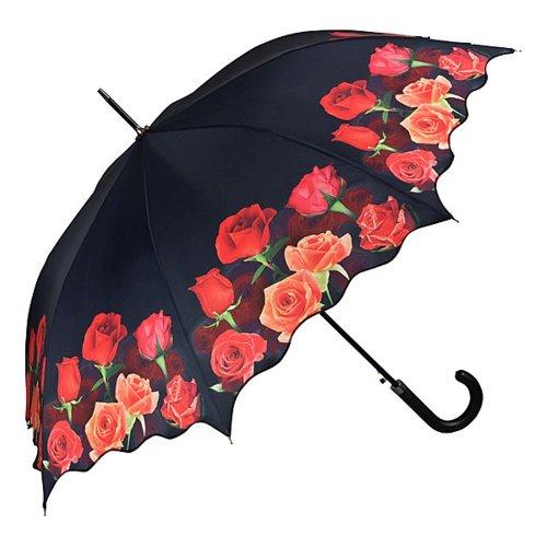 VON LILIENFELD Parapluie Automatique Femme Homme Mode design Motif-floral Bouquet de roses