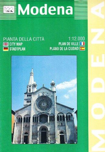 Modena. Pianta della città 1:11.000: With Historical Notes and Tourist Info (Carte stradali) por Collectif