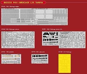 Eduard EDBIG3335 Big Ed Set 1:32-F4U-1 Jaula para pájaros (Tamiya) Accesorios Grabados en Foto, Varios