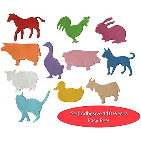forme di schiuma Animali Adesivi 110 autoadesiva