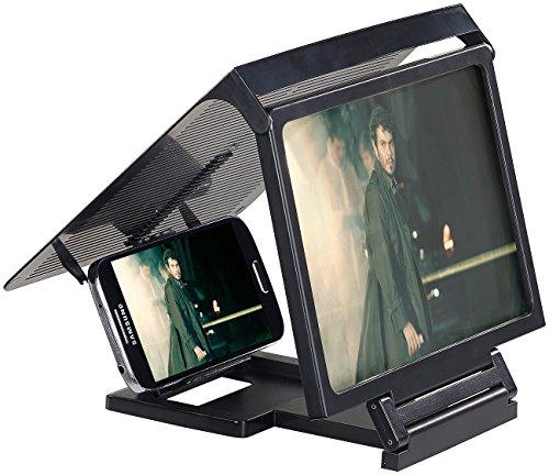 Callstel Handylupe: Smartphone & iPhone Acryl Lupe mit 3X Vergrößerung (Smartphone...