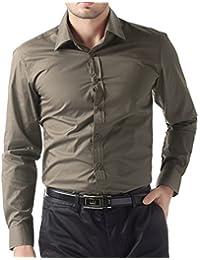 Paul Jones® Chemise Slim Fit Uni à Manches Longues Casual Tops dans  différentes couleurs 89fa23619e6c