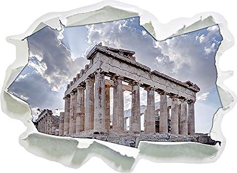 colonnes antiques Grèce, papier 3D sticker mural taille: 92x67 cm décoration murale 3D Stickers muraux (Colonne Lisce)